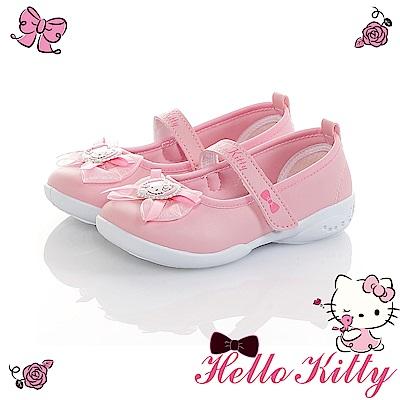 HelloKitty童鞋 蕾絲輕量減壓抗菌防臭室內外娃娃鞋-粉