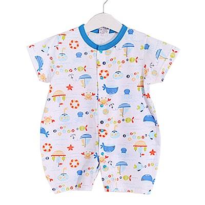 海洋印花短袖連身衣 k50376 魔法Baby
