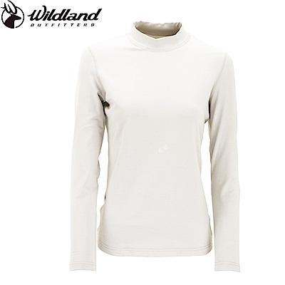 【Wildland 荒野】女遠紅外線彈性保暖衣白