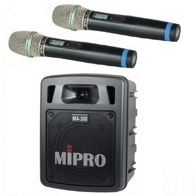 MIPRO MA-300D最新二代肩掛式藍芽無線喊話器代替MA-303DB