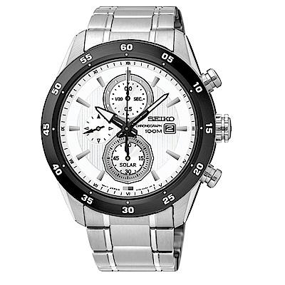 SEIKO 精工 CRITERIA登躍極致太陽能運動腕錶/V176-0AR0W/SSC53