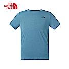 The North Face北面男款土耳其藍色吸濕排汗運動短袖T恤|3RKT4Y3