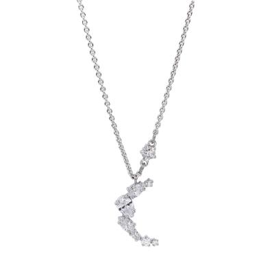 SWAROVSKI 施華洛世奇 Penélope Cruz璀璨水晶星月銀色項鍊
