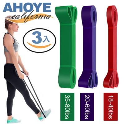Ahoye 瑜伽健身阻力帶 10-80lbs 3入組 彈力繩 拉力帶 彈力帶