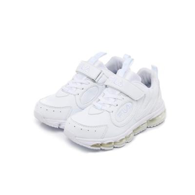 FILA KIDS 大童MD氣墊慢跑鞋-白  3-J814U-111