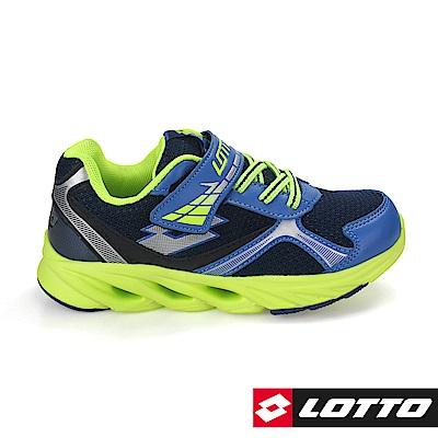 LOTTO 義大利 童 酷閃SPEEDRIDE  反光風動跑鞋(藍)