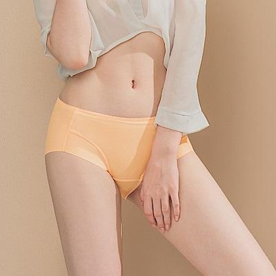 無痕透氣超健康竹炭包臀中腰M-XL內褲 甜杏裸色 可蘭霓Clany
