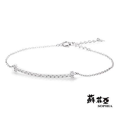蘇菲亞SOPHIA - 輕珠寶系列閃亮微笑0.25克拉鑽石手環