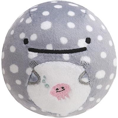 鯨鯊先生微笑的臉系列丸子QQ掌心公仔。灰色鯨鯊 San-X