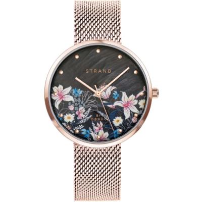 STRAND 丹麥海之星時尚腕錶-花語-玫瑰金/35mm(S700LXVBMV-DF)