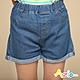 Azio Kids 女童 短褲 褲腳反摺後口袋配色牛仔短褲(藍) product thumbnail 1