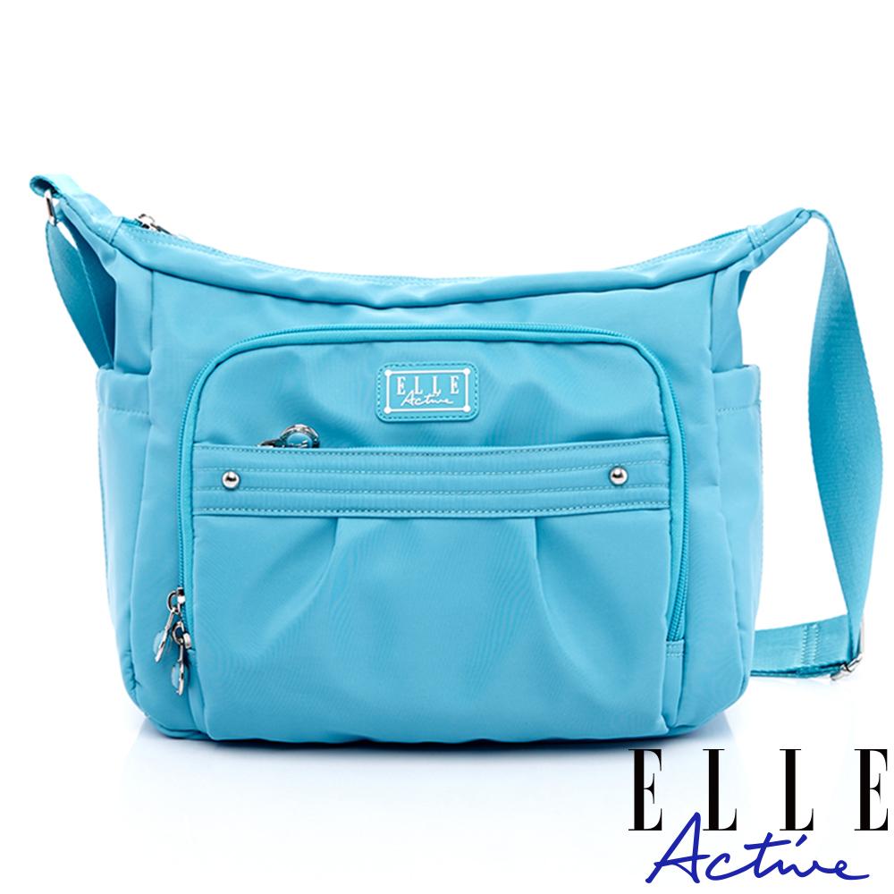 ELLE Active 優雅隨行系列-側背包/斜背包-大-天藍色