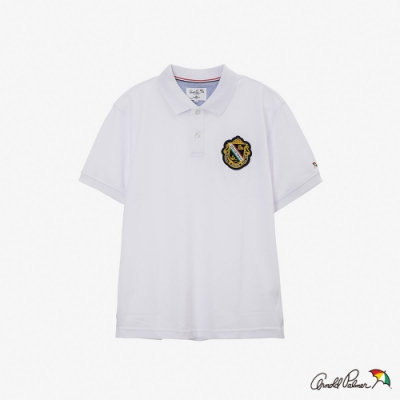 Arnold Palmer-男裝-主題貼布素面POLO衫-白