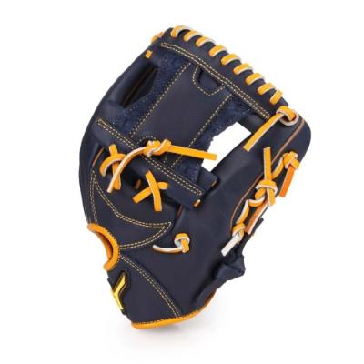 MIZUNO 棒球手套內野手用 丈青黃