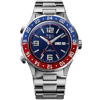 BALL 波爾錶 Roadmaster Marine GMT 瑞士天文台機械錶 (DG3030B-SCJ-BE)藍/42mm