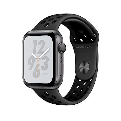 Apple Nike+S4 GPS 44mm 太空灰鋁金屬Anthracite黑色運動錶帶