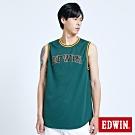 EDWIN 復古運動 雙面穿球衣背心-男-墨綠色