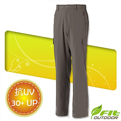 FIT 男新款 彈性吸排抗UV功能長褲_FS1803 橄欖綠