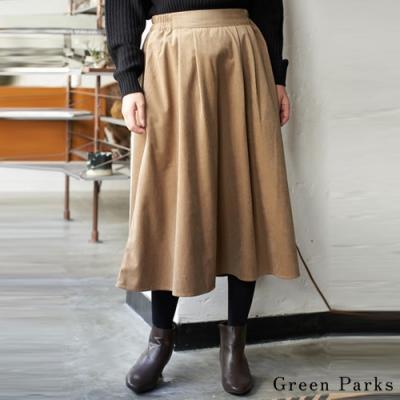 Green Parks 燈心絨寬版抓褶長裙