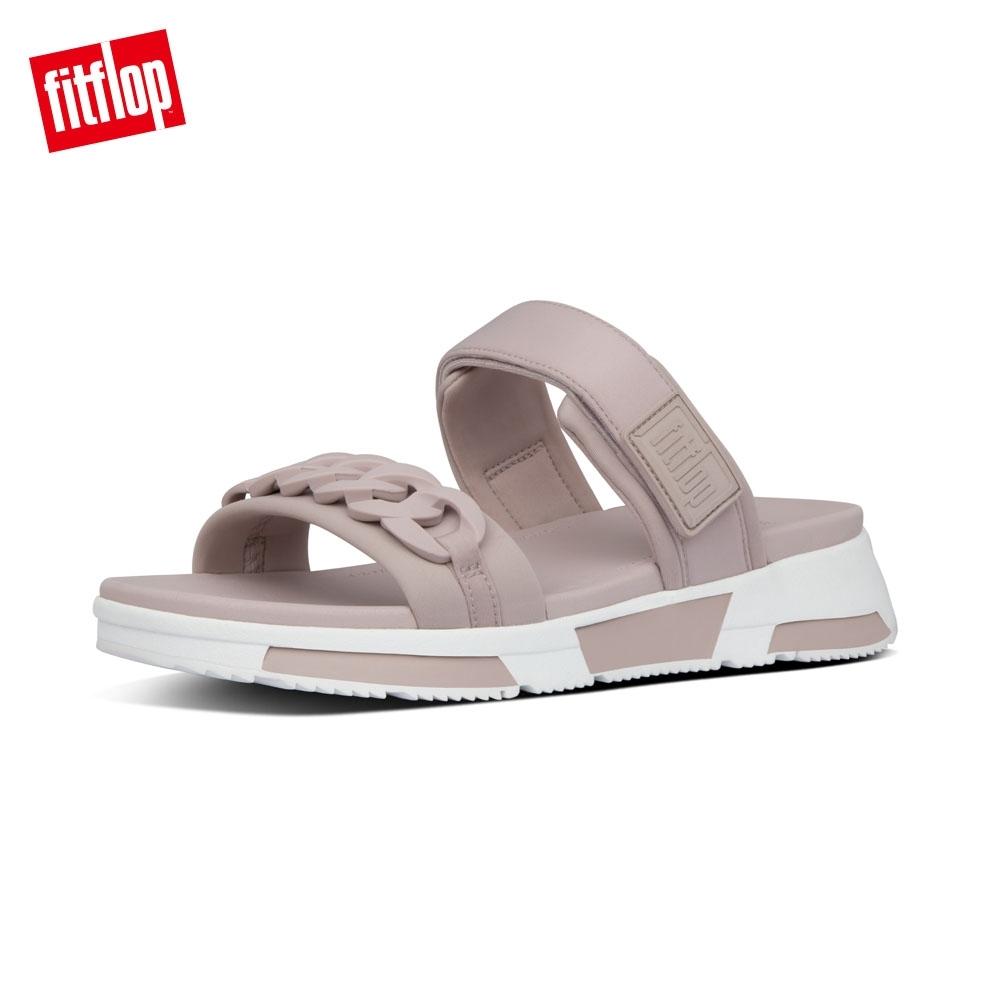 FitFlop HEDA CHAIN SLIDES運動風雙帶涼鞋 貂褐色