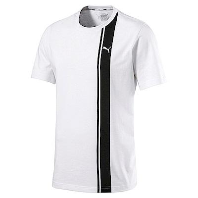 PUMA-男性基本系列復古足球風短袖T恤-白色-歐規