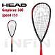 【HEAD】壁球拍 GRAPHENE 360 SPEED 135g 黑/紅 211029 product thumbnail 1