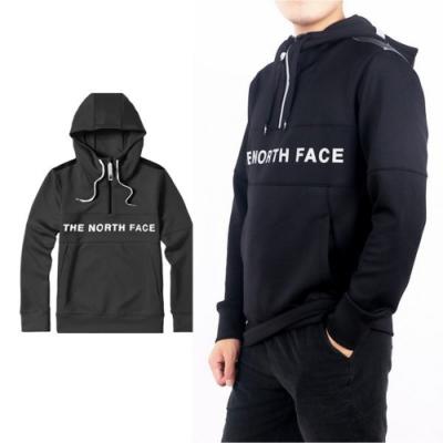 The North Face 中性新款 針織長袖連帽上衣_黑 N