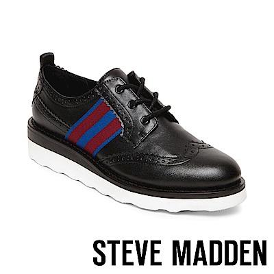 STEVE MADDEN-STANDARD時尚運動厚底牛津鞋-黑色
