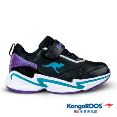 KangaROOS 童 NEON 越野老爹鞋(黑-KK01250)