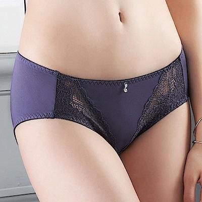 推EASY SHOP-傾心寵愛 中腰三角褲(深情紫)