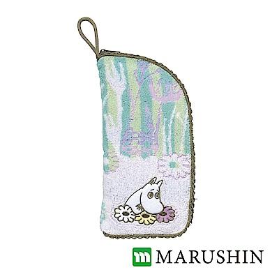 日本丸真 Moomin速吸收納雨傘/水瓶套-粉綠森林