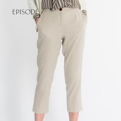 EPISODE - 簡約修身素色九分西裝褲(灰色)