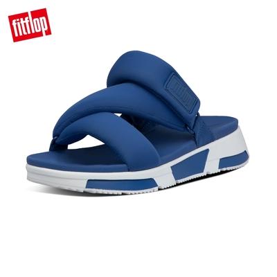 【FitFlop】ELSA PADDED STRAP SLIDES 造型運動風設計涼鞋-女(銀河藍)
