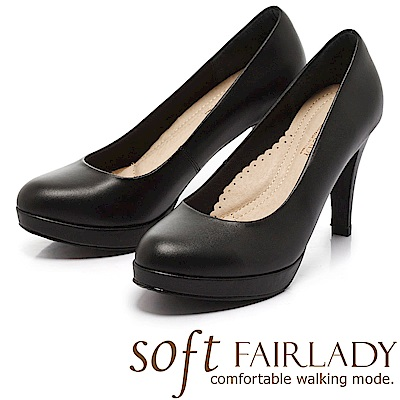 Fair Lady 超級上班者聯盟 摩登女郎高跟鞋 黑