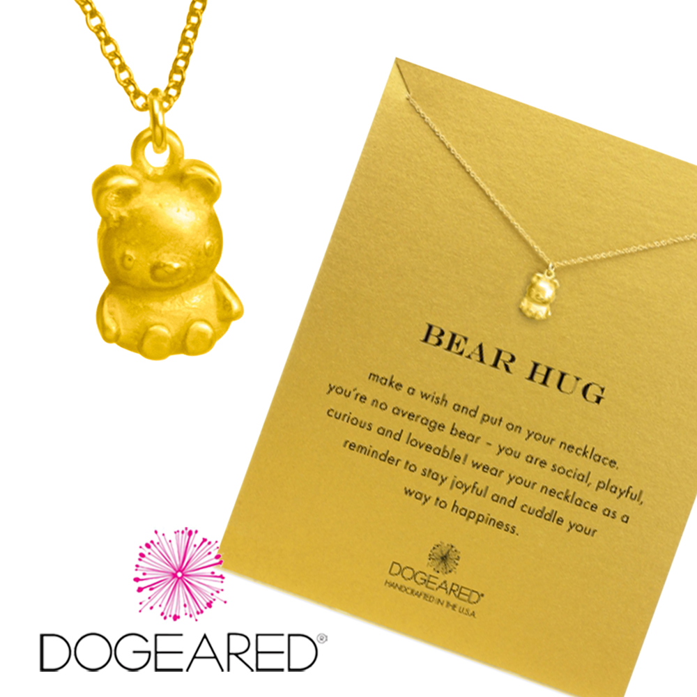 Dogeared bear 金色小熊項鍊 你最寶貝 附原廠盒 @ Y!購物
