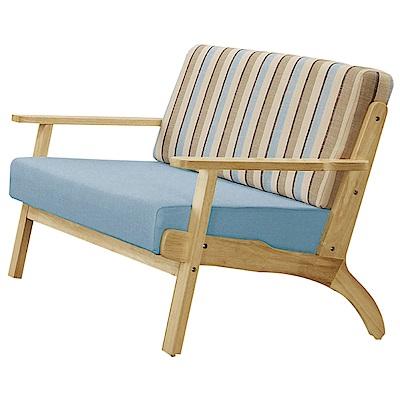 文創集 賽朵兒時尚亞麻布實木二人座沙發椅-122x75x81cm-免組