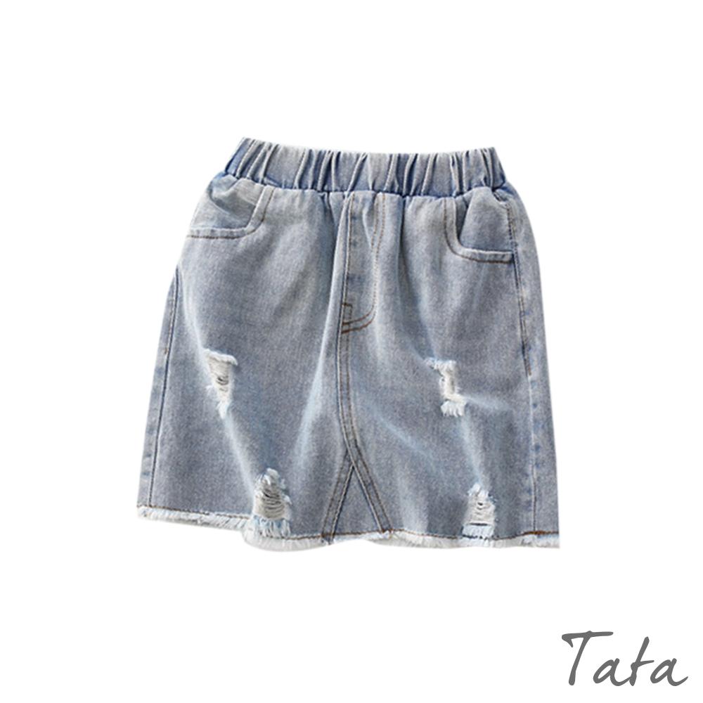 兒童 刷破鬆緊腰牛仔裙 TATA KIDS