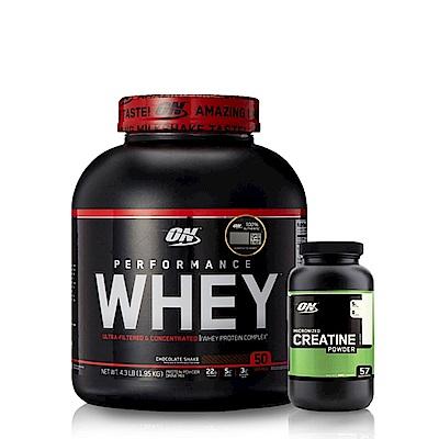 [美國 ON]Performance濃縮乳清蛋白(4.3磅)+肌酸300公克