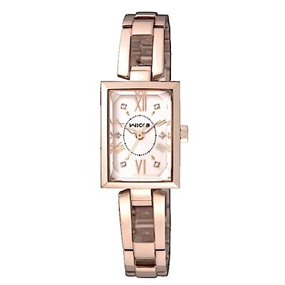 CITIZEN wicca法式優雅時尚腕錶/玫瑰金x水晶/BE1-020-23