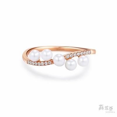 SOPHIA 蘇菲亞珠寶 - 海洋戀曲 14K玫瑰金 珍珠戒指