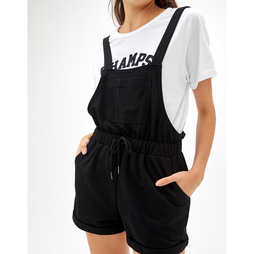 CACO-酷黑吊帶短褲-女【TAR047】