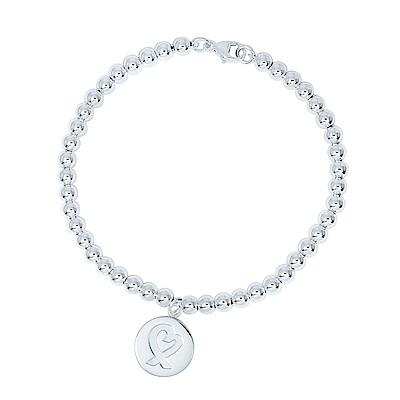 Tiffany & Co. PALOMAPICASSO圓牌愛心緞帶圓珠手鍊