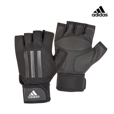 adidas愛迪達 進階加長防護手套(極致灰)