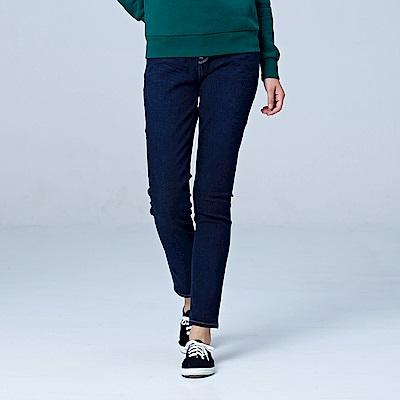 Lee 433高腰合身窄腳牛仔褲/RG-深藍
