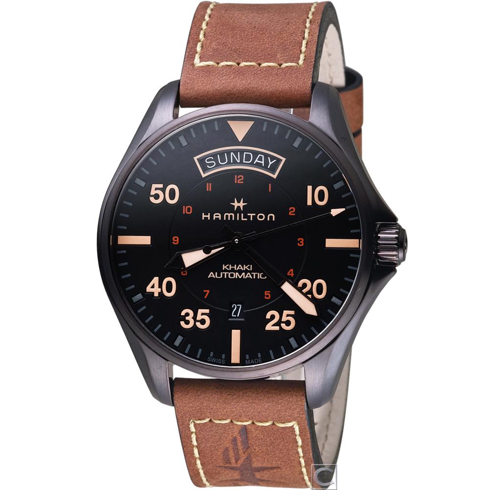Hamilton卡其航空系列DAY DATE機械錶(H64605531)