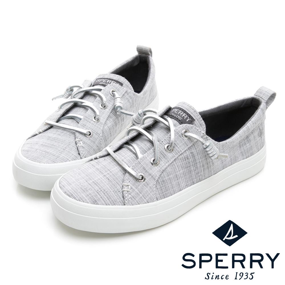 SPERRY 經典復古甜心粉嫩帆布鞋(女)-銀色 @ Y!購物
