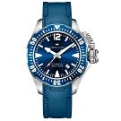 Hamilton漢米爾頓 卡其海軍系列蛙人機械錶-藍/42mm