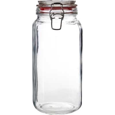 《Premier》扣式玻璃密封罐(紅2L)