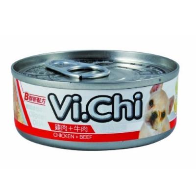 維齊Vi.Chi 《經典 機能狗罐-雞肉+牛肉 》80g 24罐組