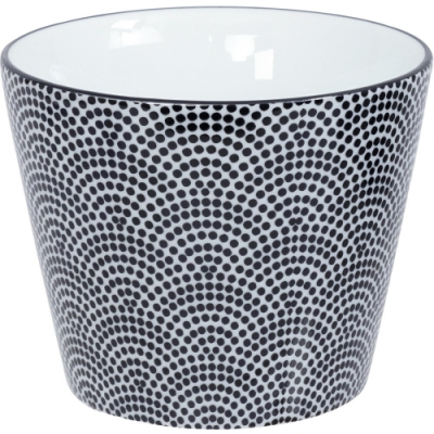 《Tokyo Design》瓷製茶杯(點扇黑170ml)